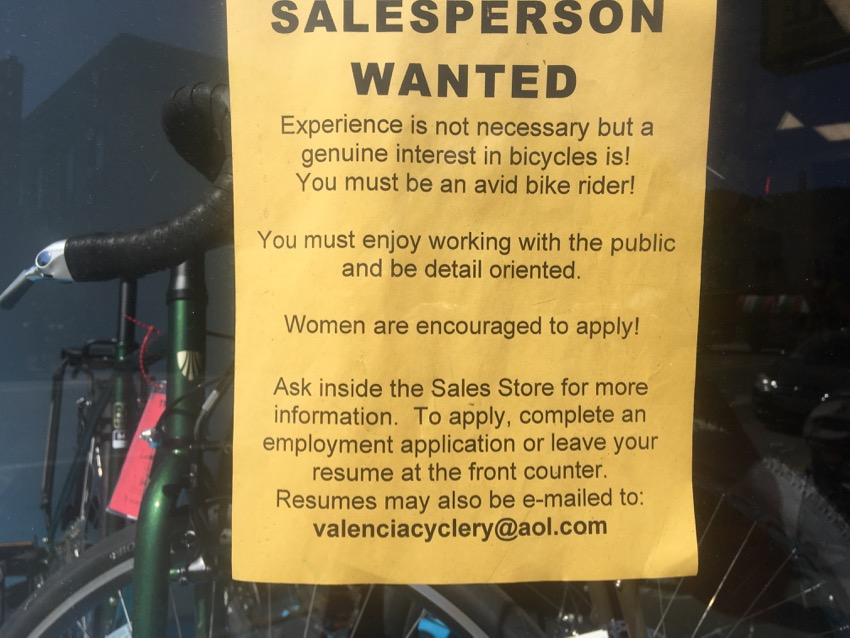 Jobs: A job at Valencia Cyclery
