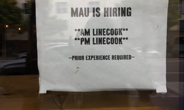 SNAP: Mau is hiring line cooks