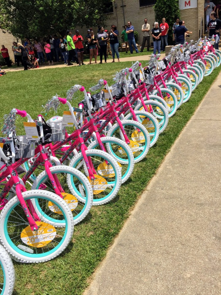 Read to Ride - Mission Marshall - South Marshall Elementary STEM Academy Girls Bikes