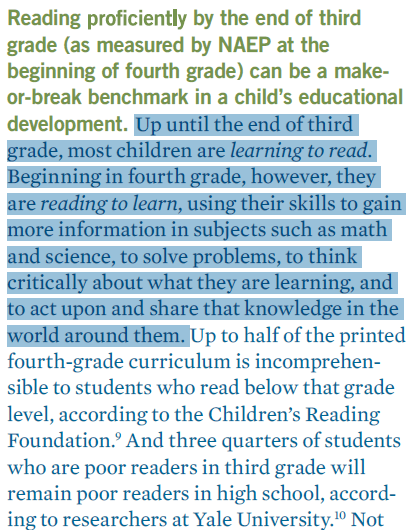 Annie E. Casey - Quote on 4th Grade Reading