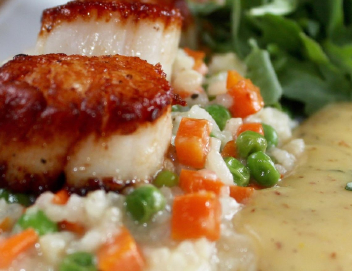 Sea Scallops Risotto at Misison Oak Grill
