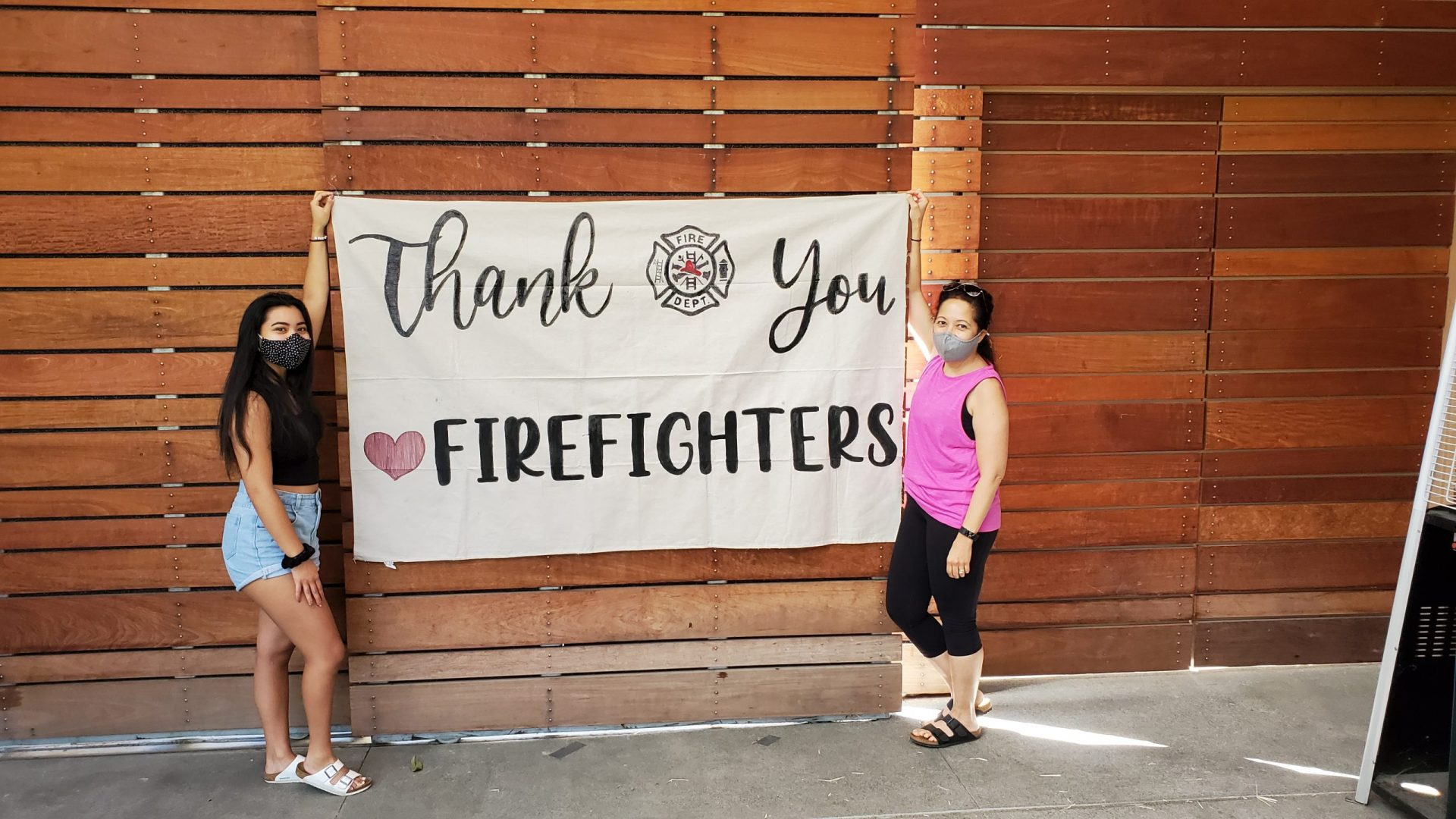 Rotary Club of Mission San Jose banner to Firefighter – Thank you Firefighters!