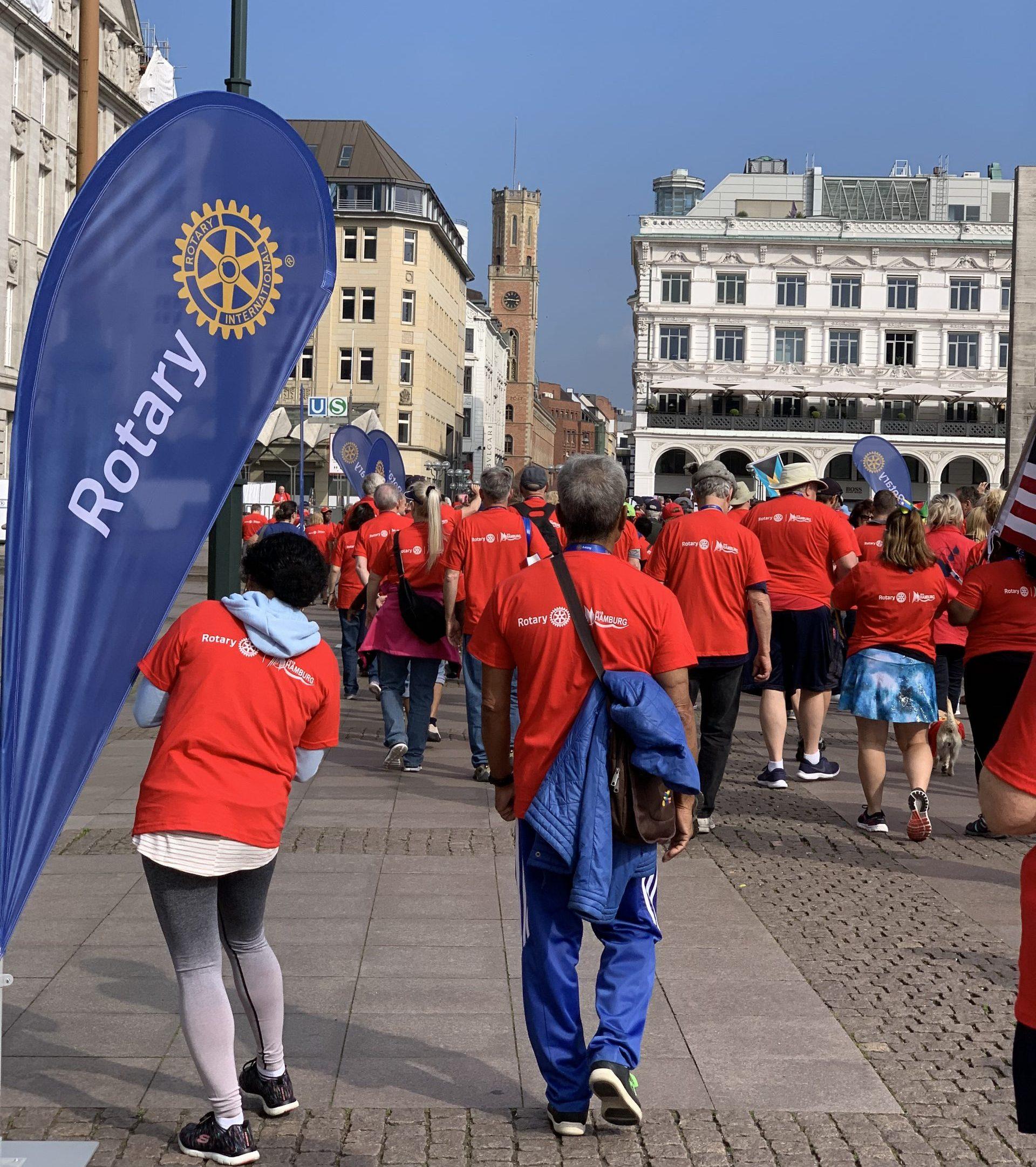 5k walk in Hamburg, Germany for Polio Awareness