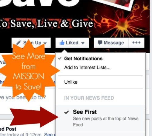 see more mission to save on Facebook