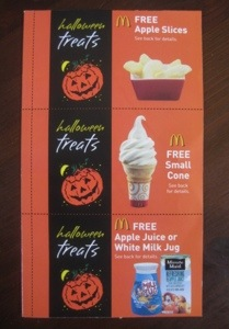 """McDonald's Halloween Coupon Books"""