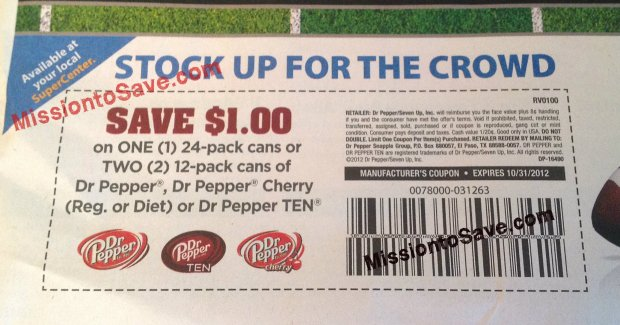 Dr. Pepper Coupon from RedPlum
