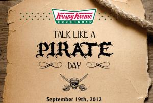 talk like a pirate krispy kreme