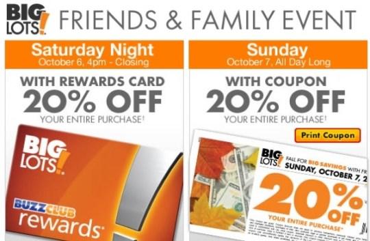 """""""Big Lots Friends and Family"""""""
