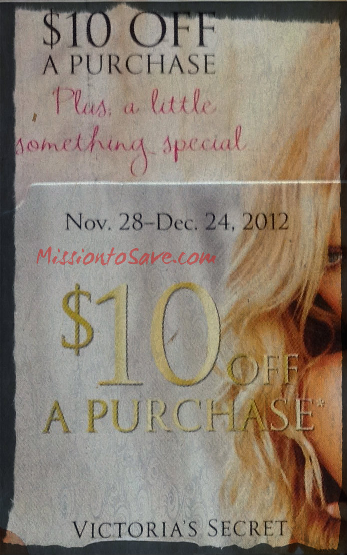 It is a picture of Mesmerizing Victoria's Secret 10 Off Coupon Printable