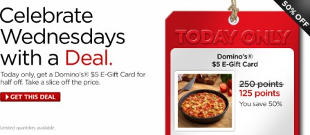 Mycokerewards Wednesday Deal Dominos