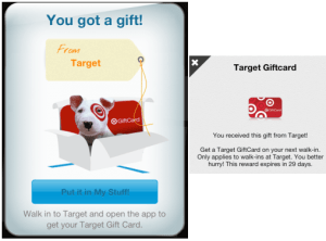 target gift card from shopkick 2