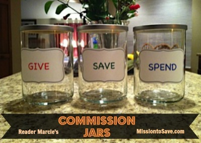 commission jars made out of repurposed candle jars