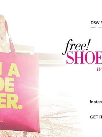 Free dsw shoe lover tote