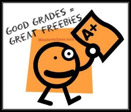 Good Grades Get Great Freebies! See list on MissiontoSave.com