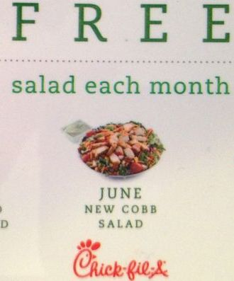 Chick-fil-A Giveaway- 3 Free Salads from MissiontoSave.com