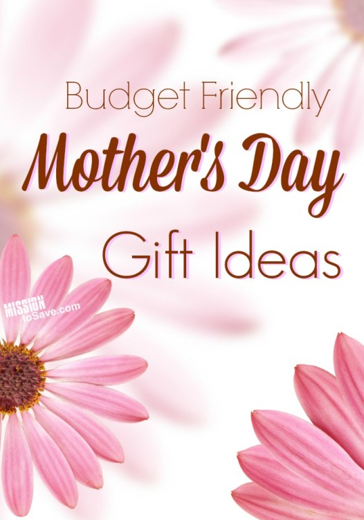 flowers with text budget friendly mother's day gift ideas