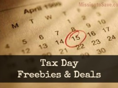 Tax Day Freebies & Deals for 2013 from MissiontoSave.com