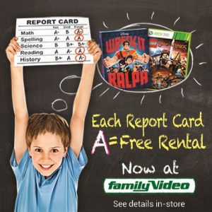 family video freebies for good grades