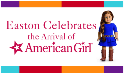 I am quite excited about the new American Girl Doll Columbus store opening at Easton. There are grand opening events like freebies and a giveaway too!  See details on MissiontoSave.com