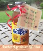 Teacher Appreciation Gift Idea Using Snapple Tea (from MissiontoSave.com)