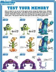 Monsters University Memory Game #MonstersU