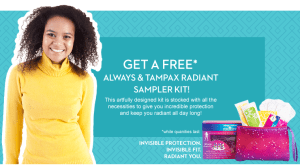 Always & Tampax Radiant Sampler Kit