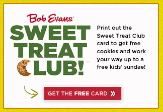 bob evans sweet treat club