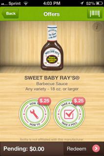 ibotta sweet baby ray's