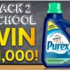 Purex Back to School Sweeps- Enter to Win $1,000!