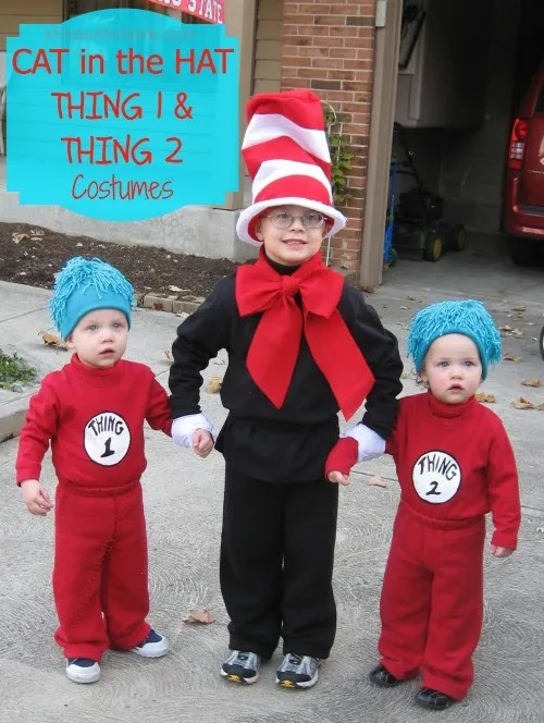 Dr Seuss Cat In The Hat And Thing 1 And Thing 2 Costumes Mission