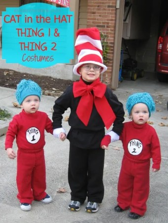 Cat in the Hat Thing 1 and Thing 2 Costumes
