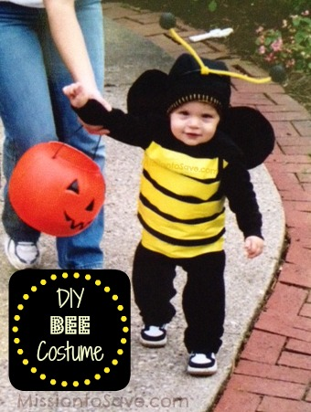 one of my very first diy halloween costumes was this adorable bumble bee one for my first born it obviously looks super cute on a toddler but could really