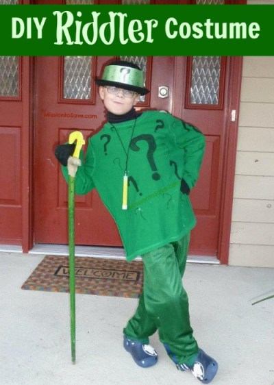 diy riddler costume