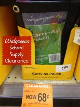 walgreens school supply clearance