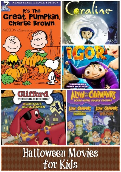 Check out these family friendly Halloween movies for kids.