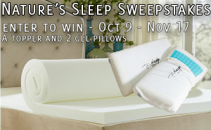 Win Nature's Sleep Products