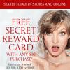 Free Victorias Secret Secret Reward Card with $10 purchase