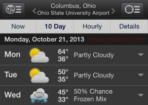 cold columbus weather