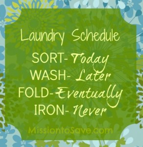 laundry schedule