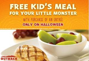 outback kids eat free on halloween