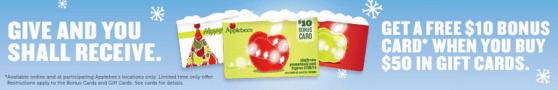applebees bonus gift card offer