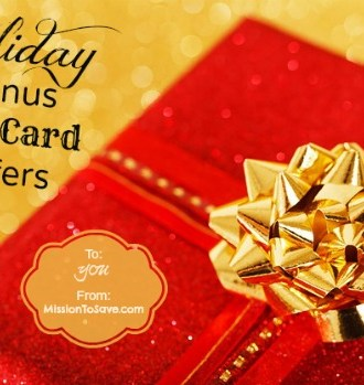 List of Holiday Gift Card Bonus Offers on MissiontoSave.com