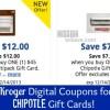 kroger digital coupons for Chipotle gift cards
