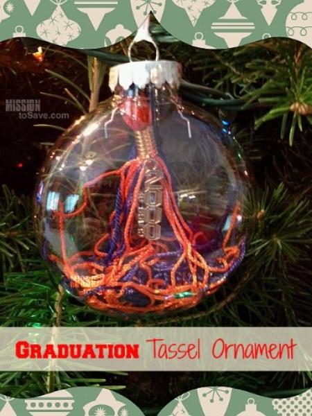 See this Easy DIY Graduation Tassel Ornament on MissionToSave.com