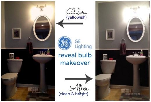 ge reveal light bulb makeover