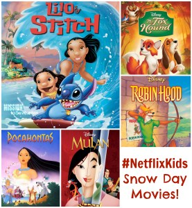 Escape the winter with Lilo & Stitch or meet a Disney Classic again- #NetflixKids has great snow day movies!