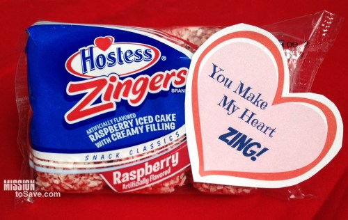 Hostess Zingers Valentine- Toy Make My Heart ZIng!