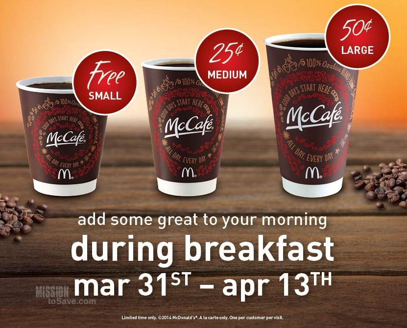mcdonalds free coffee