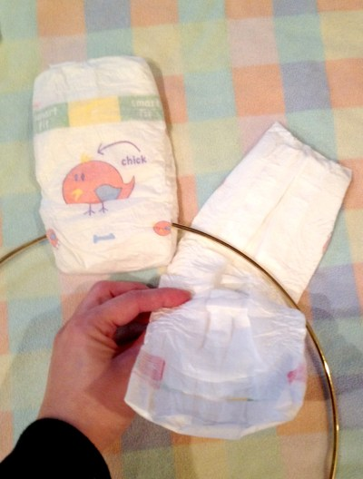 How to make a DIY Diaper Wreath