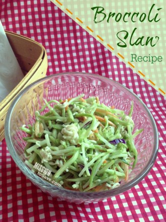 Broccoli Slaw Recipe is perfect for cookouts and potlucks!